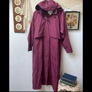 L.L. Bean • Purple Rain Trench Coat